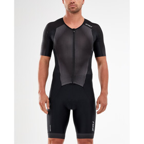 2XU Perform Combinaison à manches courtes zippée Homme, black/shadow